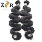 Trama natural rizada/ondulada del pelo humano del color el 100%