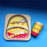 Jogos de bambu extravagantes biodegradáveis dos utensílios de mesa da fibra para miúdos
