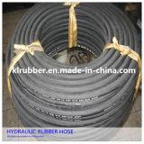 Boyau hydraulique en caoutchouc industriel tressé du fil En856