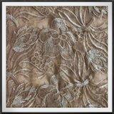 花によって刺繍されるレースの網の刺繍のレースの金刺繍のレース