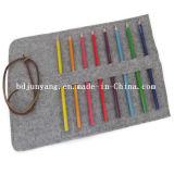 Sacchetti rotondi della cassa di matita del feltro promozionale su ordinazione