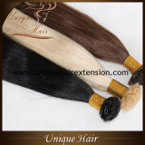 Preço de fábrica liso da ponta das extensões européias disponíveis do cabelo da fusão de Remy