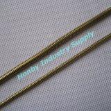 La varietà gradua la catena secondo la misura del serpente del metallo colorata oro di modo