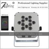 diodo emissor de luz de iluminação sem fio Uplights da bateria de 12X18W WiFi para eventos