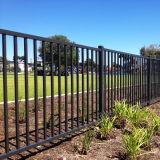 All'ingrosso della rete fissa tubolare del giardino del cortile rivestito della polvere nera di lucentezza di qualità