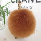 Fashion Top véritable de qualité de la fourrure de renard Ball / pompons de fourrure de renard