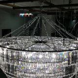 Lampadario a bracci multilivelli dell'a cristallo dell'ingresso grande LED dell'hotel di alta qualità