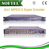 Mpeg-2 8 in 1 Super Codeur met IP Output, Codeur 8 Cvbs