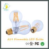A19/A60 E26 LED 필라멘트 전구는 실내 옥외 점화를 도매한다