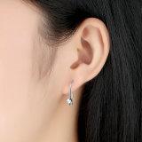 여자 하락 귀걸이를 위한 새로운 포스트 귀걸이, 명확한 CZ & 은