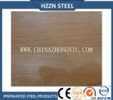 La textura de madera prepintó la bobina de acero