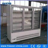 Холодильник индикации двери стекла 3 Multideck чистосердечный