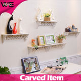 装飾的で安く新しいデザイン白いプラスチック壁の記憶の棚