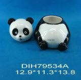 Biscotto del panda/vaso di ceramica dipinti a mano della caramella