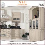 N&L si dirigono l'armadio da cucina materiale di legno solido della noce della mobilia