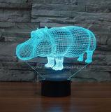 新しく多彩な卓上スタンド、サイ誕生日プレゼントのための視覚LED 3D夜ライト