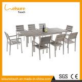 La producción profesional de madera de plástico de mesa y silla de aleación de aluminio muebles de patio al aire libre