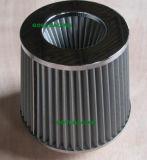 Filtro de ar de carro de aço inoxidável Tubo de admissão de ar superior cromado de 76mm