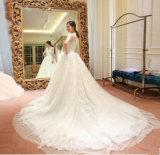 2017 New Arrival MID-Sleeves Ball Gown vestido de noiva grávida (Dream-100029)