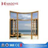 Guichet en aluminium de tissu pour rideaux d'approvisionnement d'usine de la Chine avec l'écran de mouche