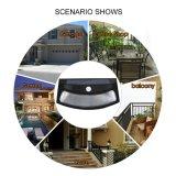 고품질 8 LED 힘 PIR 운동 측정기 태양 미소 벽 램프, 방수 정원 램프