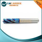 Flautas contínuas dos moinhos de extremidade HRC45 do carboneto 4