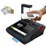 プリンター、WiFi、Bluetoothが付いている人間の特徴をもつ接触ICクレジットカードの強打機械