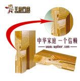 Chapa de madera laminada madera de la puerta de vidrio para estar Cocina