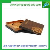 Cadre de empaquetage d'épaule de papier enduit de cadeau de bijou fait sur commande de faveur