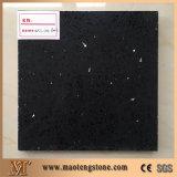 Pedra artificial preta Sparkling de quartzo para a venda quente das bancadas da cozinha e do banheiro