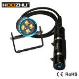 La antorcha del salto de la caja LED de Hoozhu Hu33 con 4000 lúmenes impermeabiliza el 120m para los zambullidores