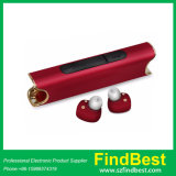 Écouteurs stéréo sans fil S2 de Bluetooth de rouge à lievres initial véritables avec le côté du pouvoir 850mAh