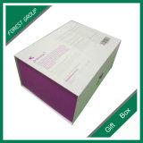 紫色磁気閉鎖の折るギフト用の箱