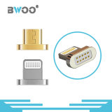 Best Selling 3 em 1 Cabo de dados USB magnético com iluminação, Micro, Pino de tipo C