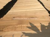 Plancher non fini en bois solide de teck de la Birmanie
