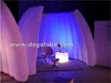 LED, die aufblasbare runde Form-Wand für Messe beleuchtet