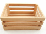 De Buena Calidad Caja de madera de haya natural para la promoción