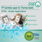 Étiquettes d'étiquettes de bagage résistant à l'eau Matériaux de transfert thermique BPA Free