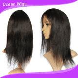 매끄러운 똑바로 100%년 Virgin Remy 브라질 사람의 모발 가득 차있는 레이스 가발
