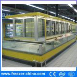 Congelatore unito della visualizzazione con il compressore di Danfoss