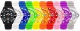 Elegante Horloges van de Chronograaf van de Beweging van Japan van het plastic Geval en van de Band de Waterdichte