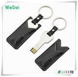 Tecla de couro de venda quente stick USB com 1 anos de garantia (WY-L37)