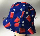 sombrero de 100%Cotton Sun con All Over la impresión de pantalla (LY059)