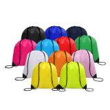 La publicité promotionnelle Salle de Gym Sports de nylon polyester coulisse sac à dos Sac avec lacet de serrage