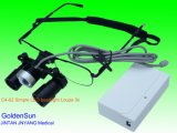 Portátil quirúrgico médicos lupa de luz LED de 3X