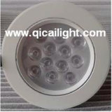 12X1w White+BlackのシェルLED Downlight