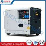 販売のための空気によって冷却される携帯用6.5kVA無声ディーゼル発電機