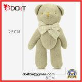 O urso da peluche do bebê articulou o urso articulado da peluche o urso branco com Bowtie