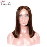 Пользовательские цвета красный блондинка полного кружева или кружевной передней коротких волос человека парики Боб вырезать волосы Бразилии