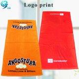 昇進項目綿のベロアはロゴによってカスタマイズされたタオルを印刷した